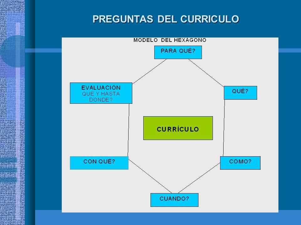 PREGUNTAS DEL CURRICULO