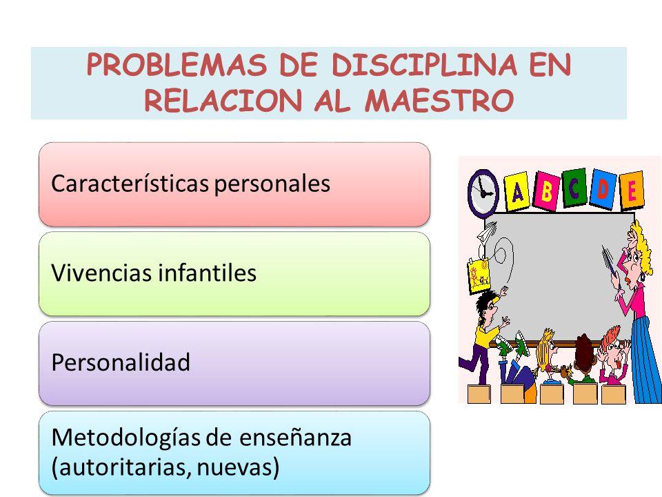 Características personalesVivencias infantilesPersonalidad Metodologías de enseñanza (autoritarias, nuevas)