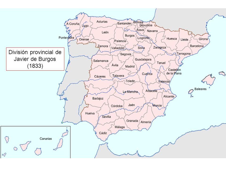 División provincial de Javier de Burgos (1833)