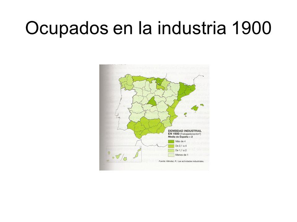 Ocupados en la industria 1900