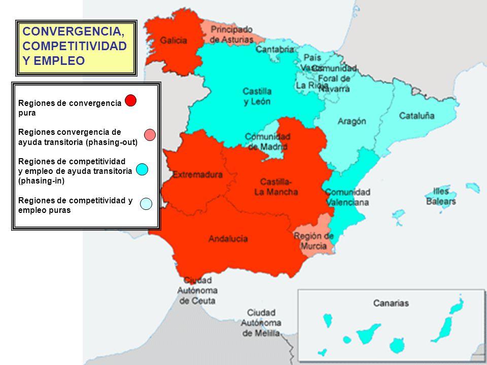 Regiones de convergencia Regiones phasing-out Regiones phasing-in Regiones de competitividad y empleo Regiones de convergencia Regiones phasing-out Re