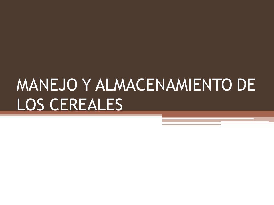 Manejo de los granos Las bodegas tienen el objetivo de preservar o mejorar la calidad del grano para optimizar su mercado.