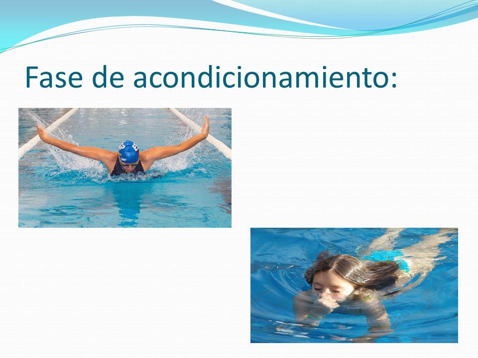 Habilidades acuáticas básicas: Desplazamientos: Puesta en acción.