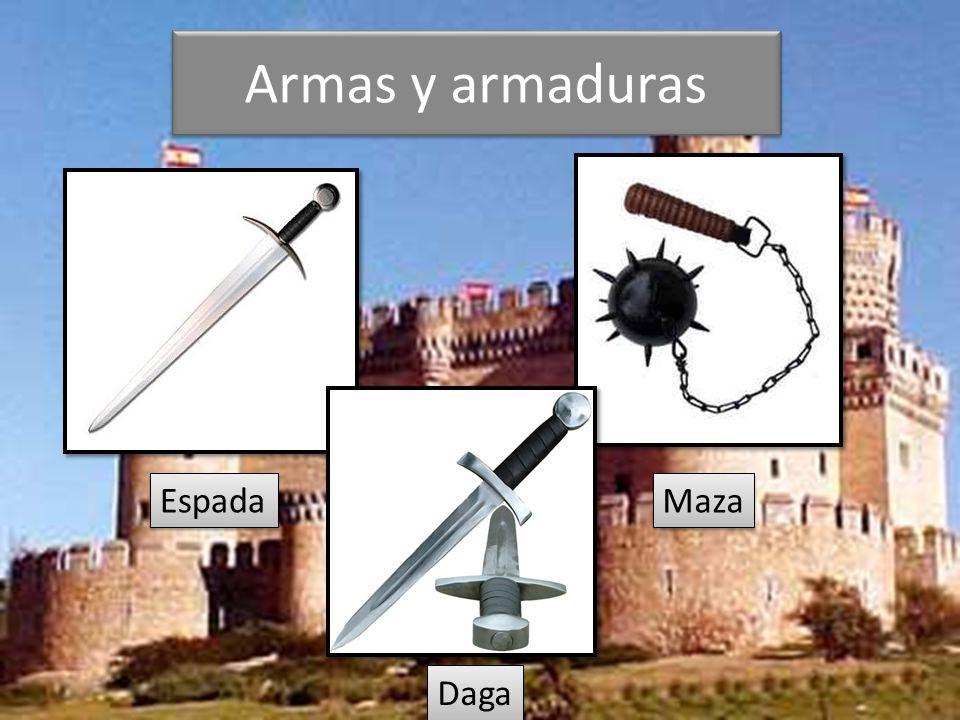 Armas y armaduras Espada Maza Daga