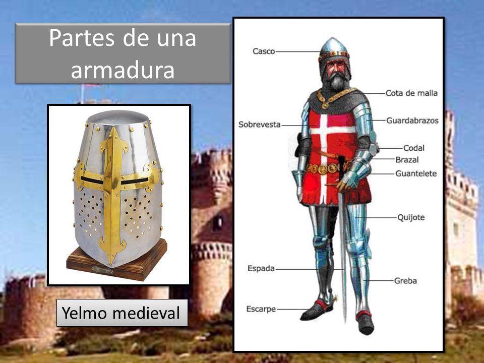 Partes de una armadura Yelmo medieval