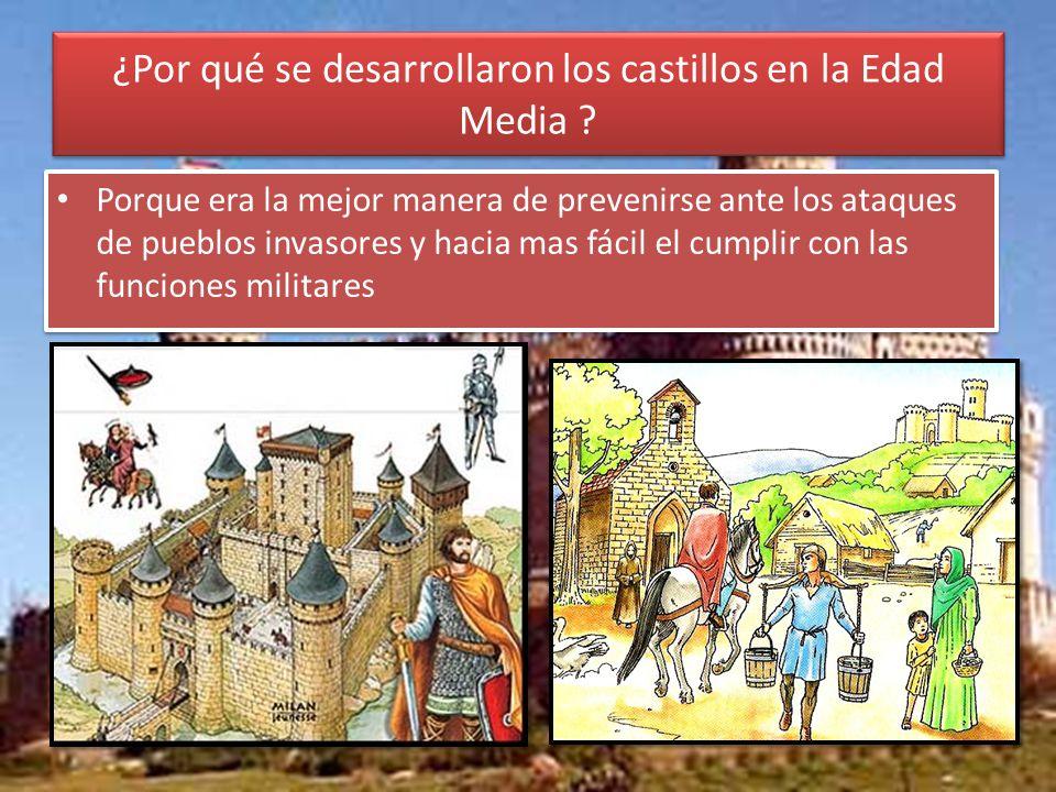 ¿Por qué se desarrollaron los castillos en la Edad Media .