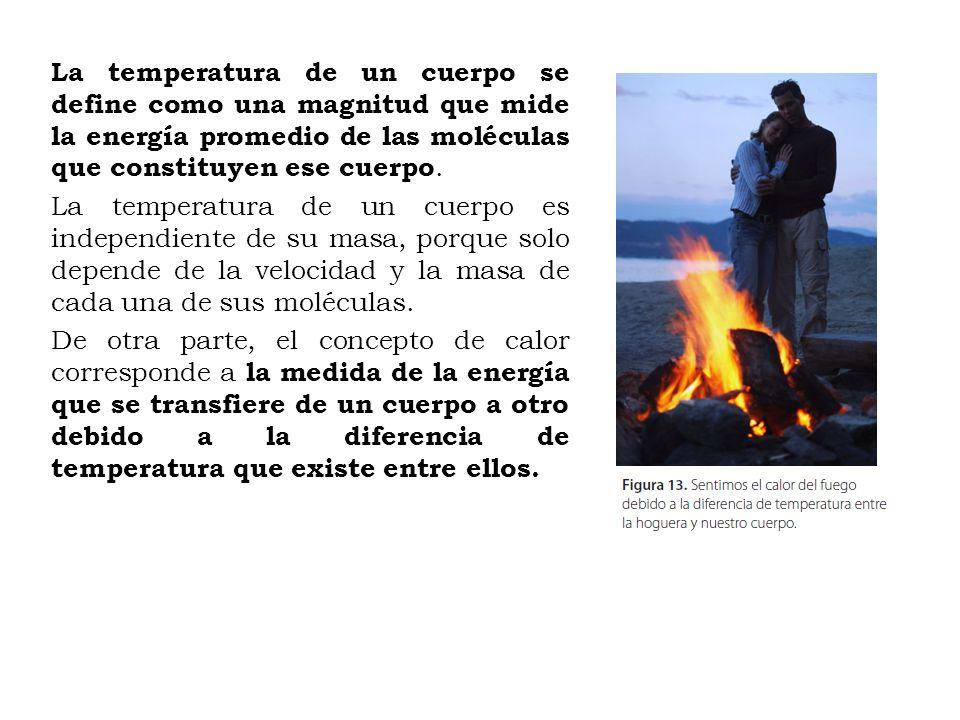 Cuando dos sustancias que se encuentran a diferente temperatura se ponen en contacto, el calor pasa desde la sustancia más caliente hacia la más fría, hasta que ambas alcanzan la misma temperatura, es decir, están en equilibrio térmico.