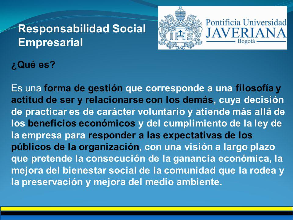 Responsabilidad Social Empresarial ¿Qué es.