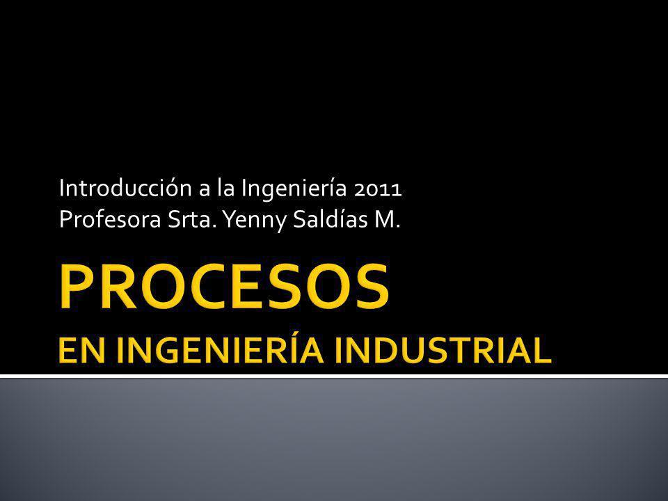 Introducción a la Ingeniería 2011 Profesora Srta. Yenny Saldías M.