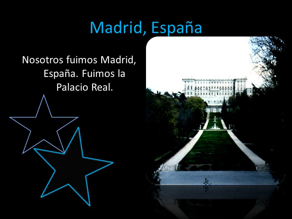 Madrid, España Nosotros fuimos Madrid, España. Fuimos la Palacio Real.