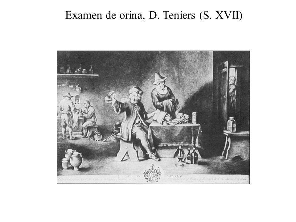 Examen de orina, D. Teniers (S. XVII)