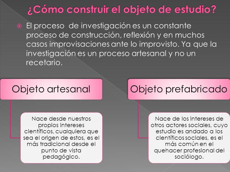 El proceso de investigación es un constante proceso de construcción, reflexión y en muchos casos improvisaciones ante lo improvisto.
