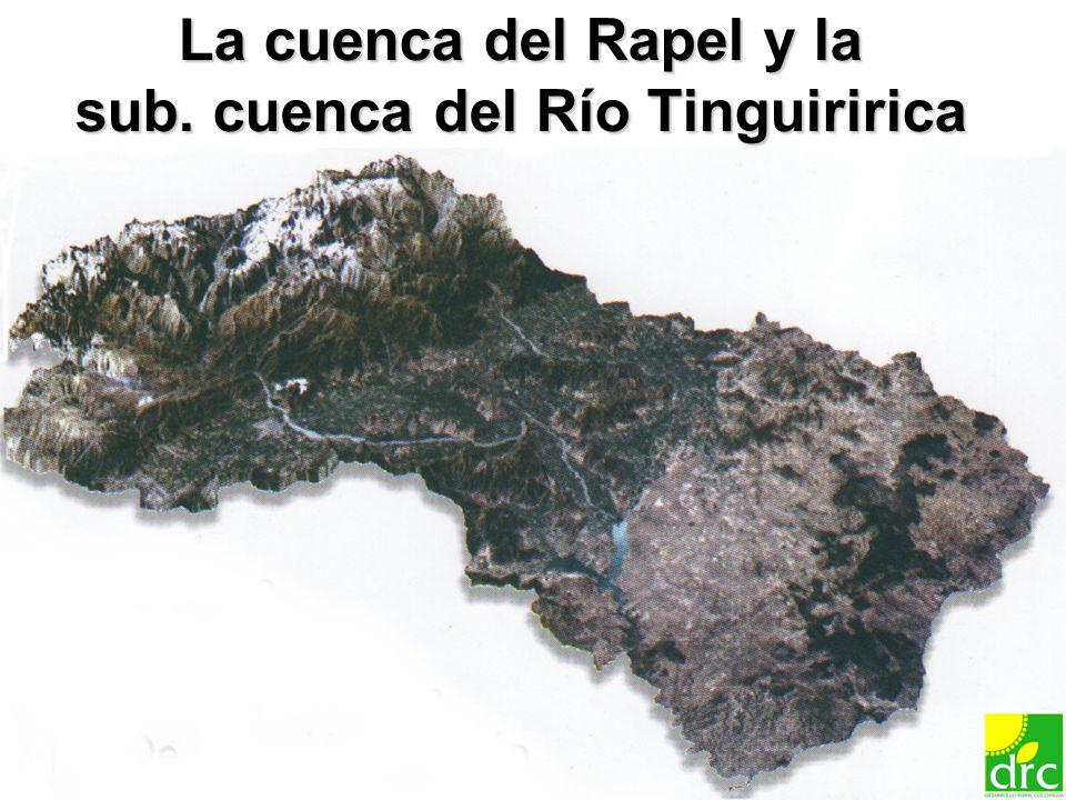 7 La cuenca del Rapel y la sub. cuenca del Río Tinguiririca