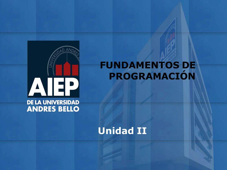 FUNDAMENTOS DE PROGRAMACIÓN Unidad II