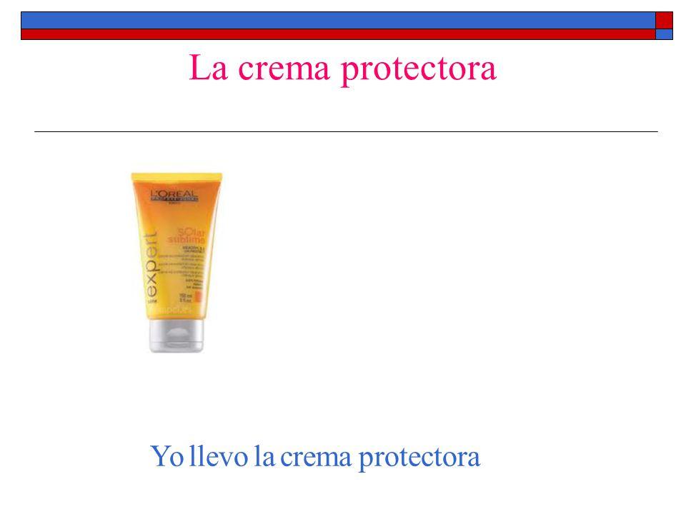 La crema protectora Yo llevo la crema protectora