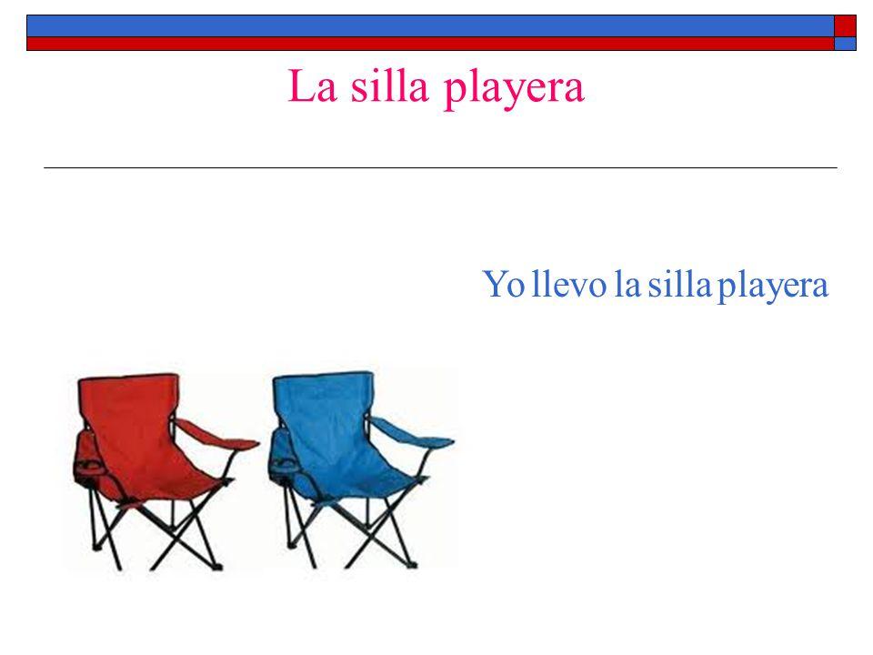 La silla playera Yo llevo la silla playera
