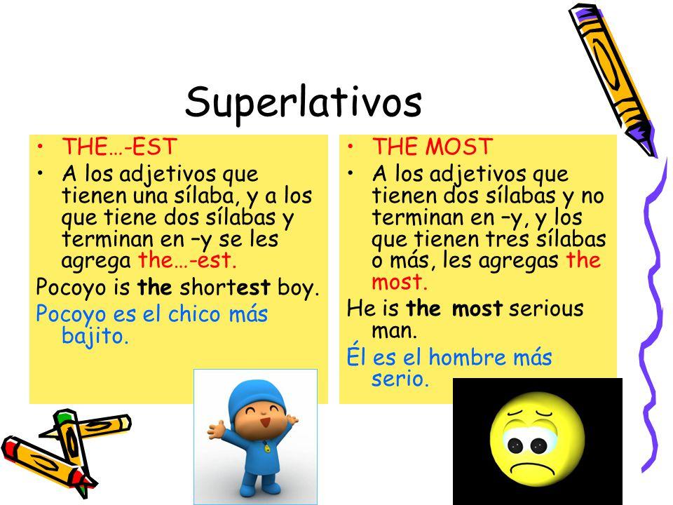 Superlativo THE LEAST El menos This book is the least interesting.