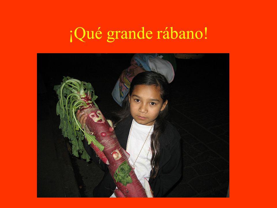 Día de los Muertos de rábanos.