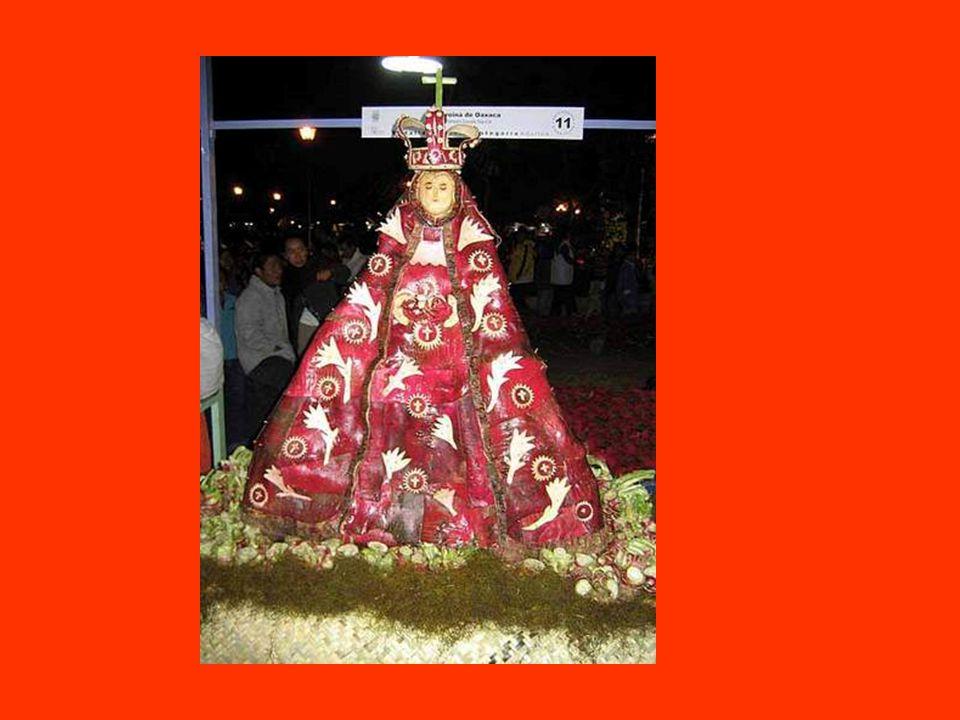 Un tema muy popular para escultar es cosas religiosas. Esta es la virgen de guatalupe.
