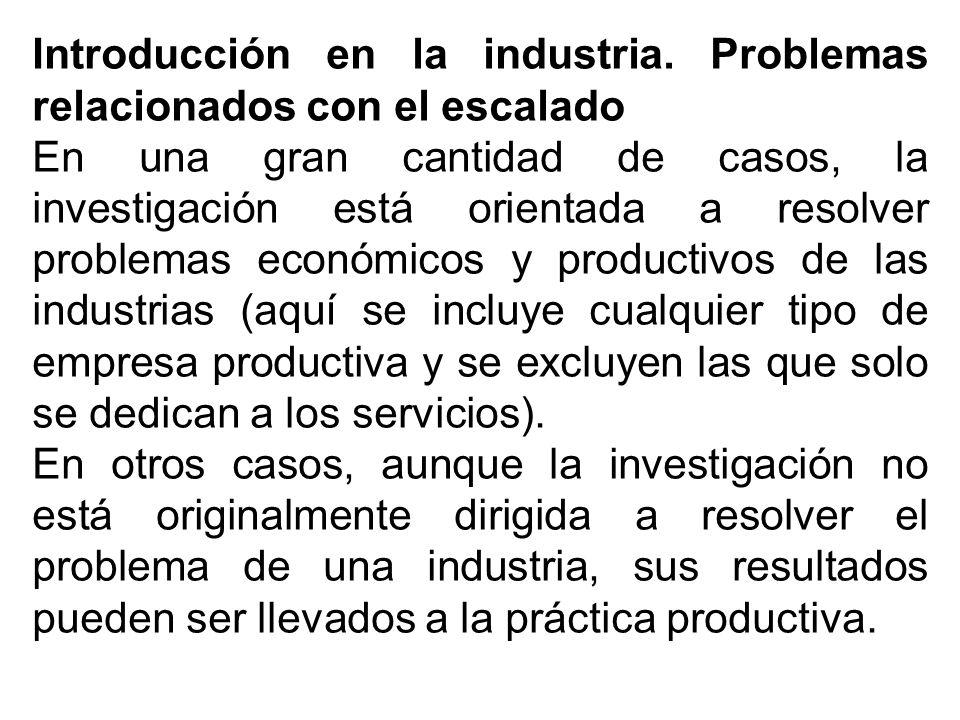 Introducción en la industria.