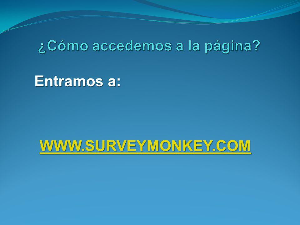 Entramos a: WWW.SURVEYMONKEY.COM
