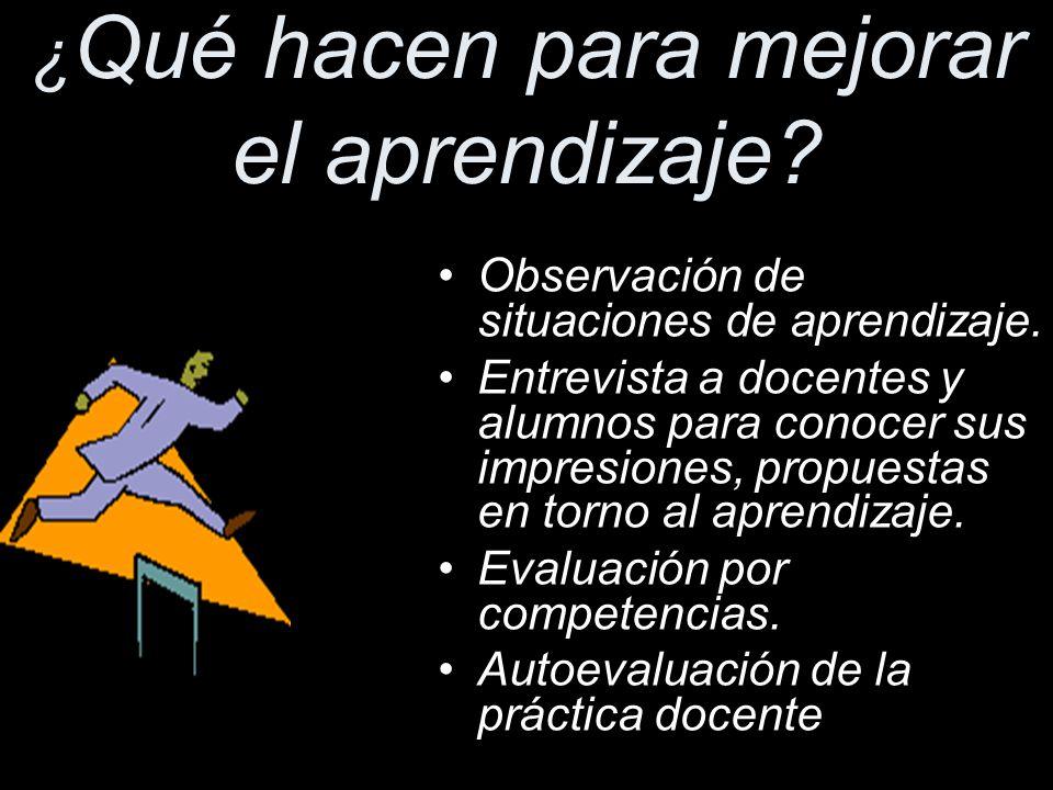 Prácticas innovadoras ¿ Qu é hacen para mejorar el aprendizaje.