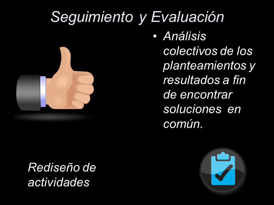 Seguimiento y Evaluación