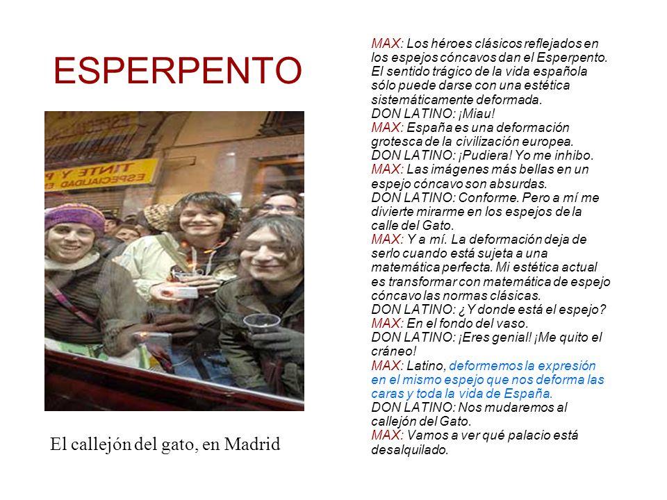 ESPERPENTO MAX: Los héroes clásicos reflejados en los espejos cóncavos dan el Esperpento.