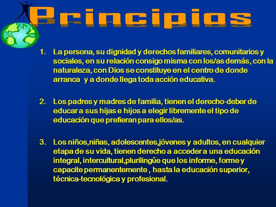 La Misión y Visión de este planteamiento se proponen posibilitar el acceso de todos los bolivianos/as a una sólida y pertinente Educación Integral, te