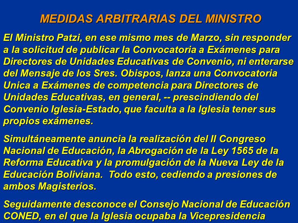 ACTITUD CONSTRUCTIVA DE LA IGLESIA ACTITUD CONSTRUCTIVA DE LA IGLESIA La Conferencia Episcopal Boliviana publica en el mes de Marzo su Mensaje Constru