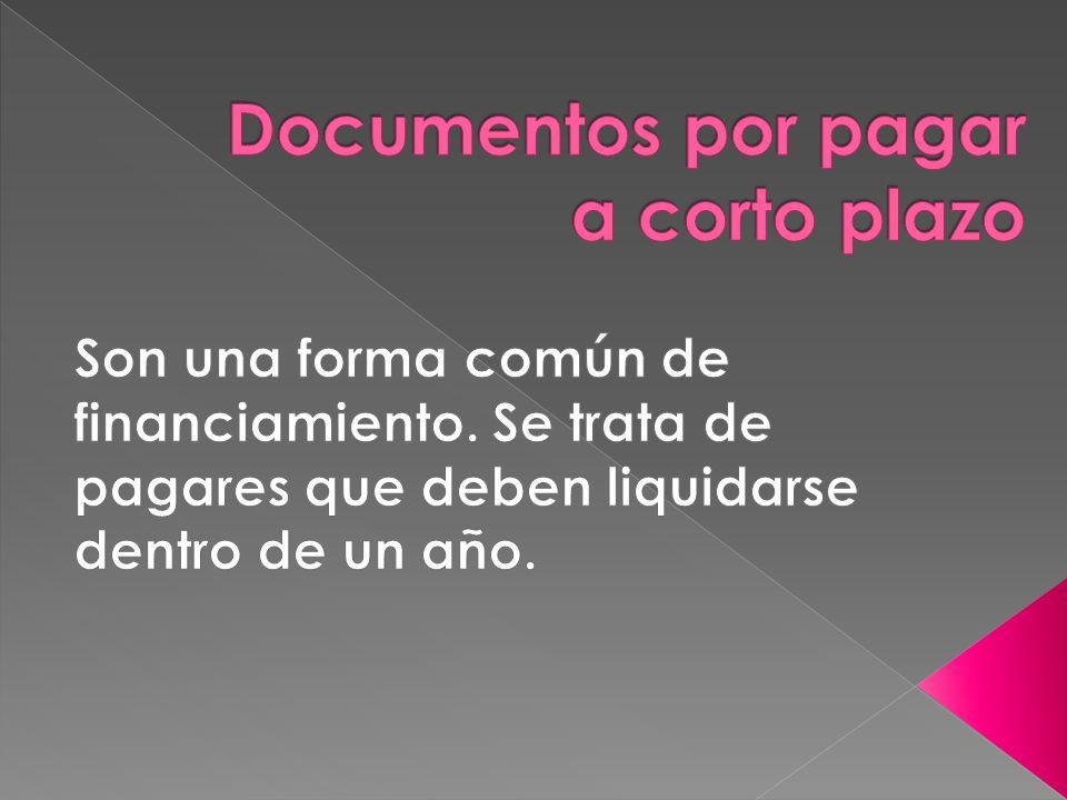 Si una compra se realiza con documentos por pagar el asiento contable quedaría de la siguiente manera.