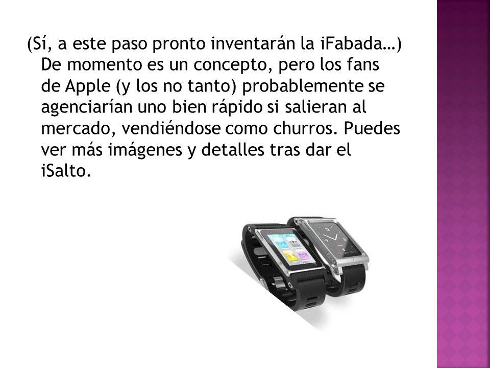(Sí, a este paso pronto inventarán la iFabada…) De momento es un concepto, pero los fans de Apple (y los no tanto) probablemente se agenciarían uno bien rápido si salieran al mercado, vendiéndose como churros.