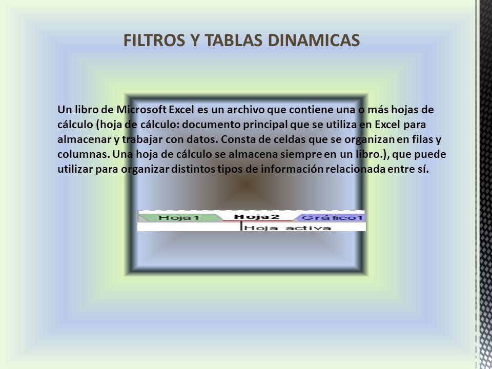 Un libro de Microsoft Excel es un archivo que contiene una o más hojas de cálculo (hoja de cálculo: documento principal que se utiliza en Excel para almacenar y trabajar con datos.