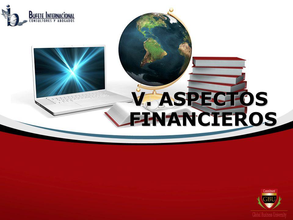 V. ASPECTOS FINANCIEROS FINANCIEROS