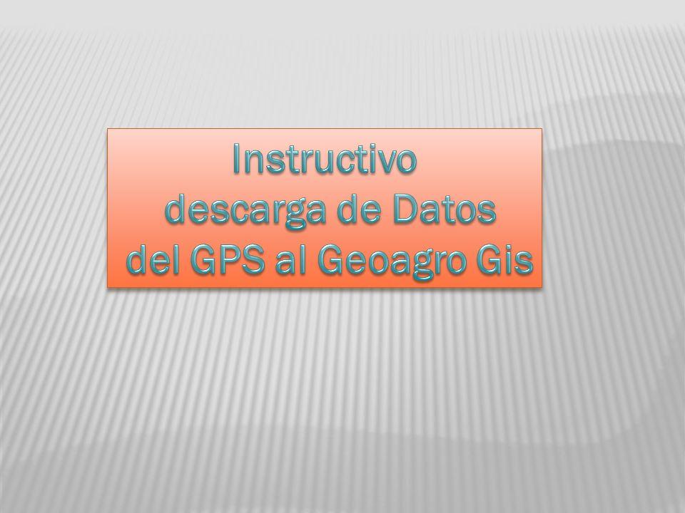 Si es un tracks la estrctura que elegimos es GPS POLYGONOS Si es un punto la estructura elegida es GPS PUNTOS Nombre de la capa Nombre del grupo