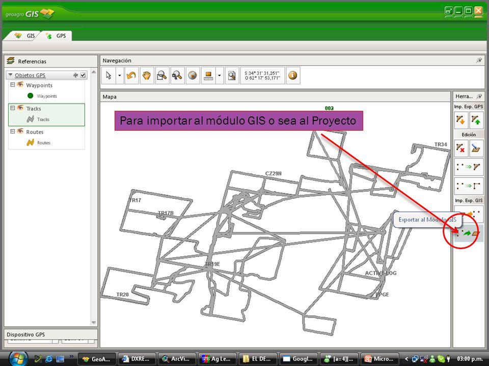 Elegimos esta opción para crear la capa donde vamos a guardar la descarga del GPS