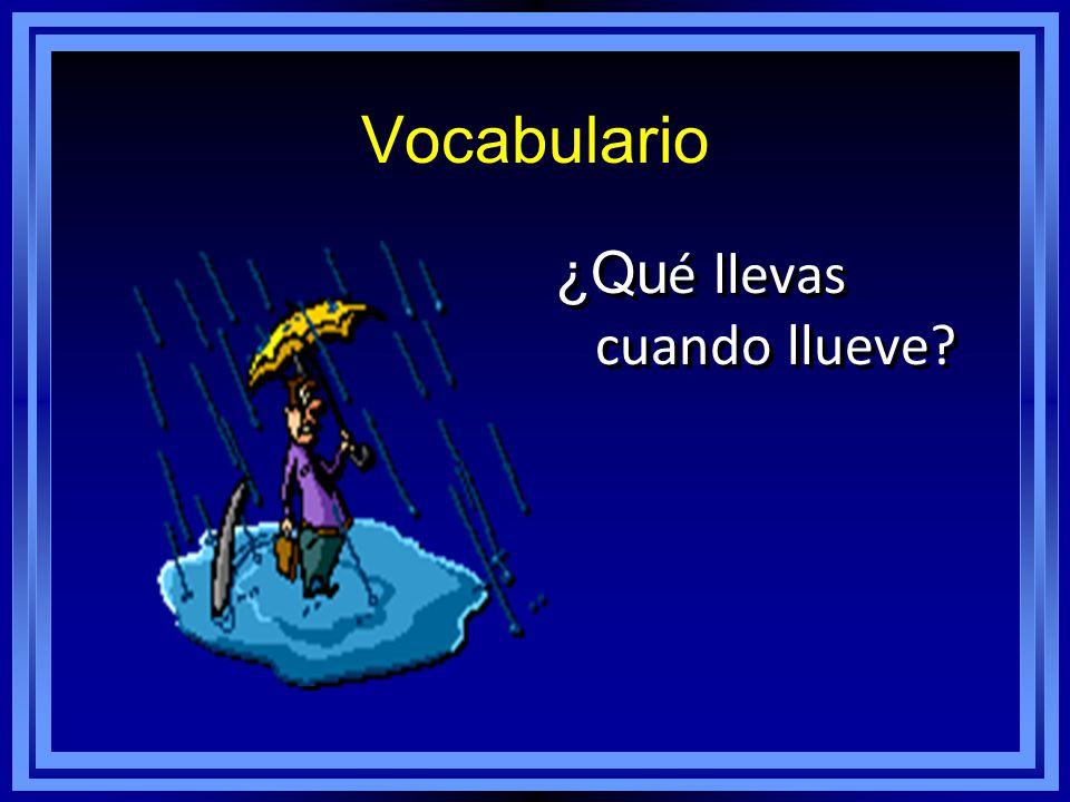 Vocabulario ¿Qu é llevas cuando llueve?