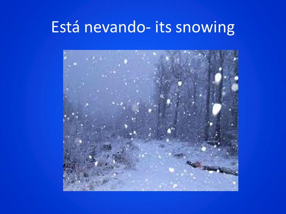 Está nevando- its snowing