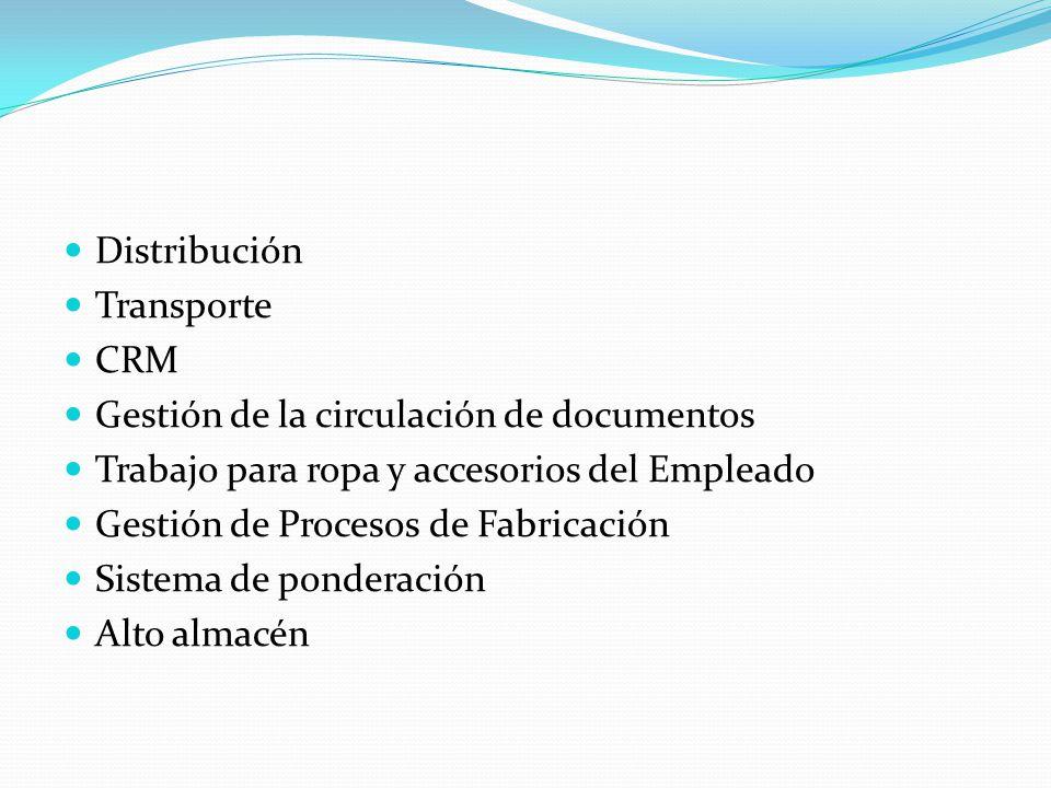 Distribución Transporte CRM Gestión de la circulación de documentos Trabajo para ropa y accesorios del Empleado Gestión de Procesos de Fabricación Sis