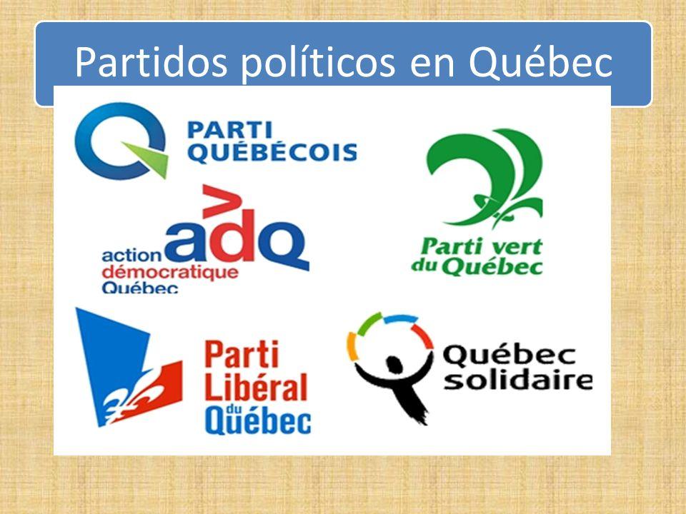 Partidos políticos en Québec