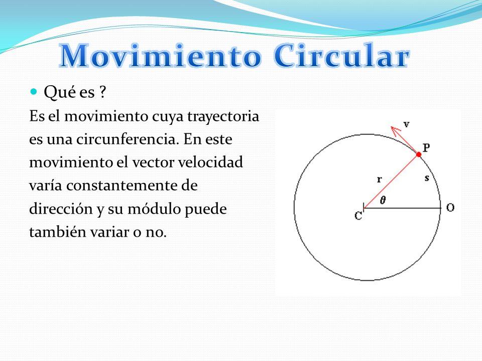 Posición angular: Es el ángulo θ que existe entre el vector posición a la partícula y un eje de referencia, que generalmente es X.