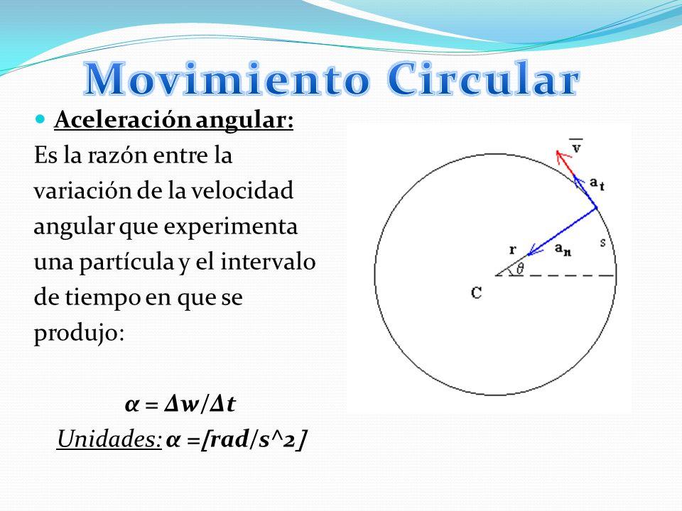 Es aquel movimiento circular que siguiendo la trayectoria de una circunferencia, de tal manera que recorra espacios iguales en tiempos igualesmovimiento circular La velocidad es constante ya que, al ser una magnitud vectorial, el módulo de la velocidad permanece constante durante todo el movimientovelocidad En este movimiento existen: el período, frecuencia y la distancia