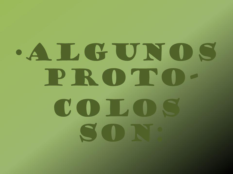 ALGUNOS PROTO- COLOS SON: