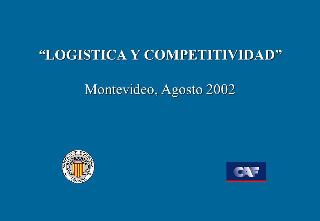 LOGISTICA Y COMPETITIVIDAD Montevideo, Agosto 2002LOGISTICA Y COMPETITIVIDAD Montevideo, Agosto 2002