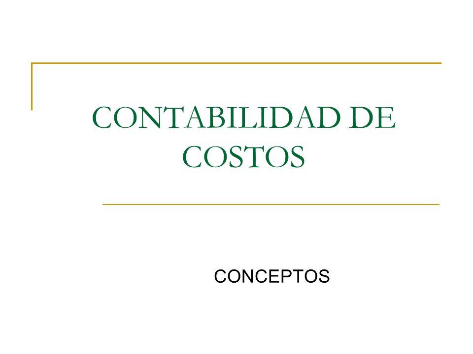 CONTABILIDAD DE COSTOS CONCEPTOS