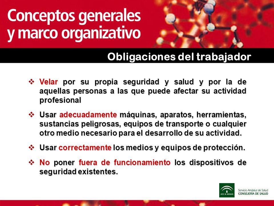 Obligaciones del trabajador Velar por su propia seguridad y salud y por la de aquellas personas a las que puede afectar su actividad profesional Velar