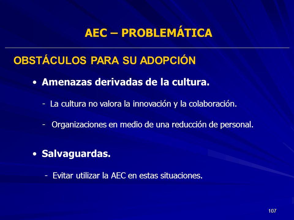 107 - La cultura no valora la innovación y la colaboración. -Organizaciones en medio de una reducción de personal. Amenazas derivadas de la cultura. S