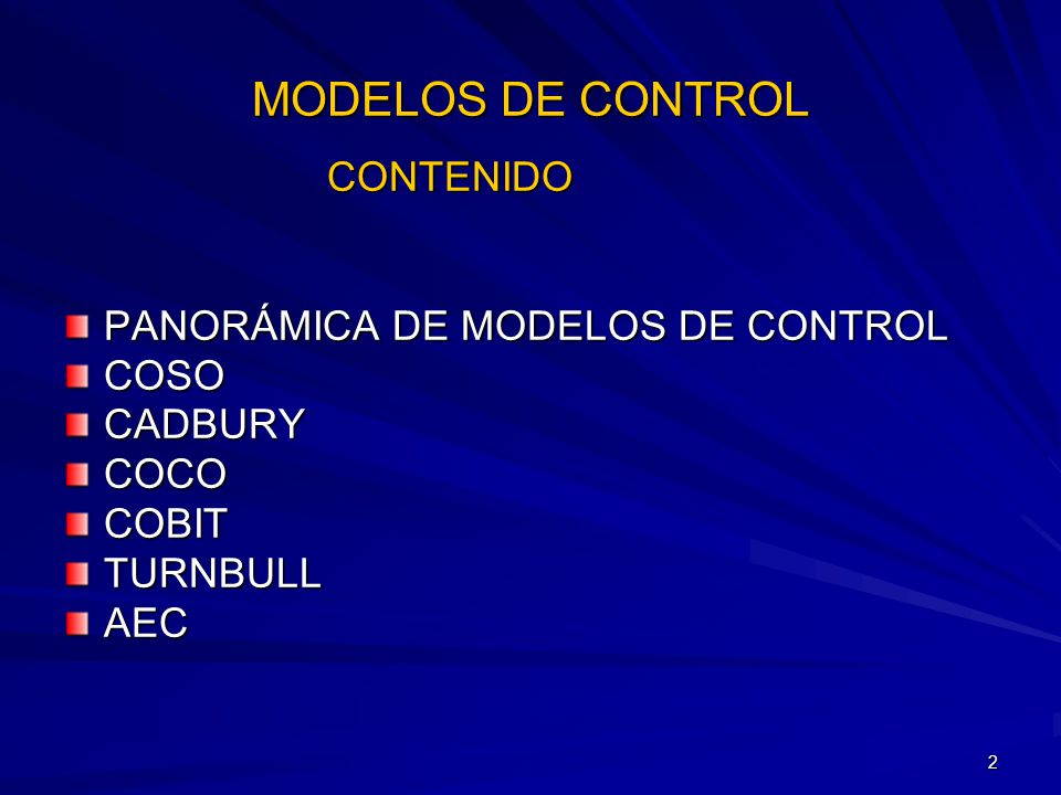 3 Marcos de referencia (comunidades) para clasificar los modelos de control según Philip L.
