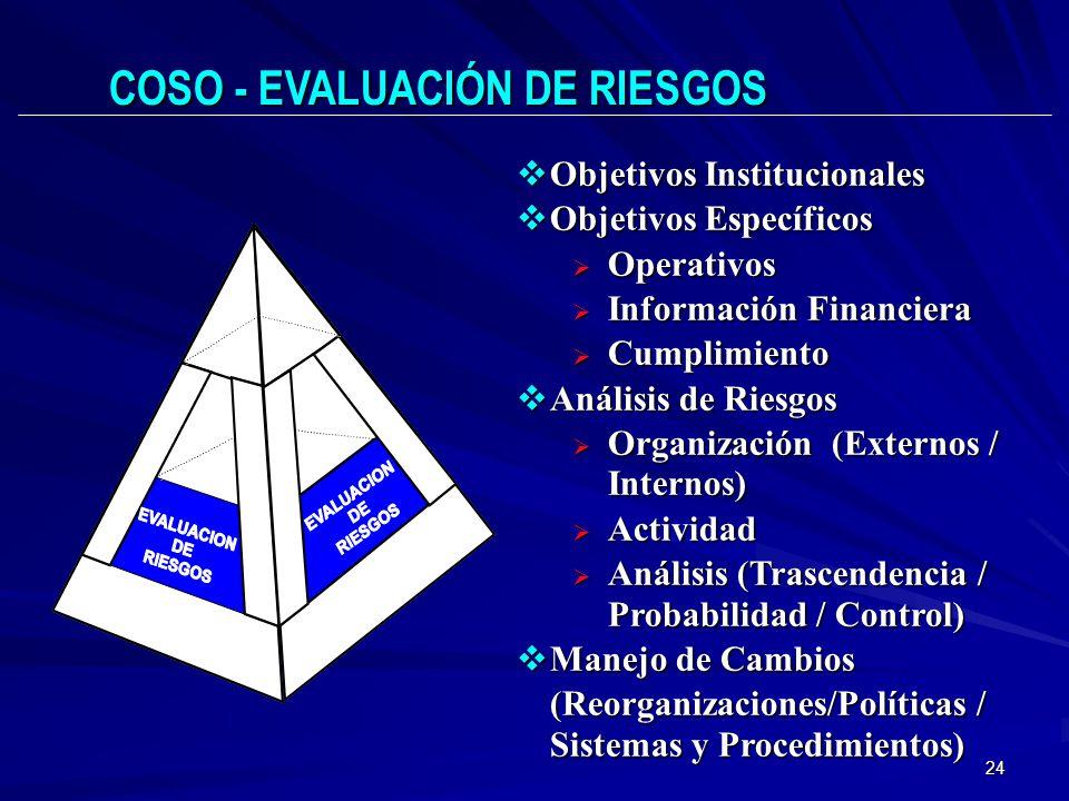 24 Objetivos Institucionales Objetivos Institucionales Objetivos Específicos Objetivos Específicos Operativos Operativos Información Financiera Inform