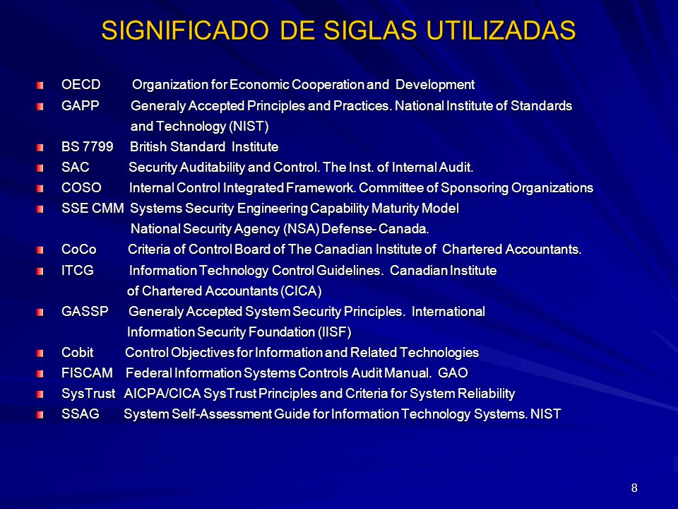 29 COSO - TIPOS DE CONTROL - Preventivos Concurrentes (sobre la marcha) -Detectivos Posteriores -De actividades (repetitivas) -De resultados (actividades creativas) -De recursos -De insumos -De acceso -De investigación y desarrollo -De proyectos -De operaciones -De procesos - De salidas - De seguridad (resguardo)